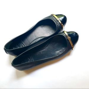 Tory Burch black leather flats size 7